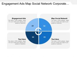Engagement Ads Map Social Network Corporate Primary Ledger Diagram