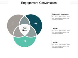 Engagement Conversation Ppt Powerpoint Presentation Styles Format Cpb