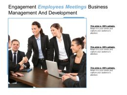 Engagement Employees Meetings Business Management And Development