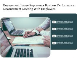 Engagement Image Represents Business Performance Measurement Meeting With Employees