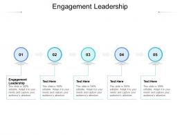 Engagement Leadership Ppt Powerpoint Presentation Infographics Cpb