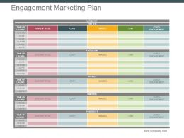 Engagement Marketing Plan Powerpoint Slide Designs Download