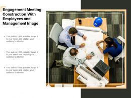 Engagement Meeting Construction With Employees And Management Image