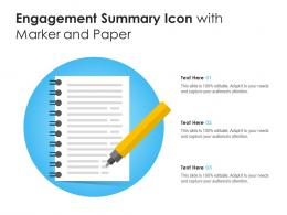 Engagement Summary Icon With Marker And Paper