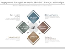 Engagement Through Leadership Skills Ppt Background Designs