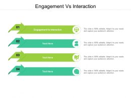 Engagement Vs Interaction Ppt Powerpoint Presentation Show Graphics Tutorials Cpb
