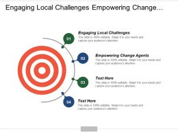 Engaging Local Challenges Empowering Change Agents Assessing Growth