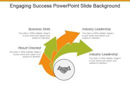 Engaging Success Powerpoint Slide Background