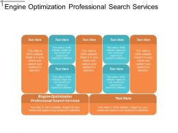 Engine Optimization Professional Search Services Ppt Powerpoint Presentation Gallery Infographic Template Cpb
