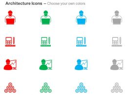 Engineer Calculating Device Growth Chart Bundles Ppt Icons Graphics