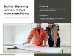 Engineer Explaining Summary Of Plant Improvement Project
