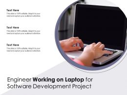Engineer Working On Laptop For Software Development Project