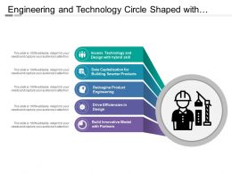 Engineering And Technology Circle Shaped With Icons