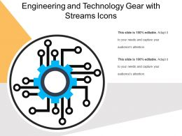 Engineering And Technology Gear With Streams Icons