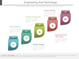 Engineering And Technology Powerpoint Presentation Slides
