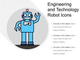 Engineering And Technology Robot Icons