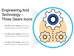 Engineering And Technology Three Gears Icons