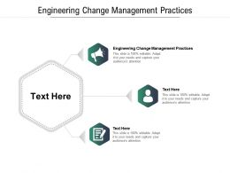 Engineering Change Management Practices Ppt Powerpoint Presentation Portfolio Images Cpb