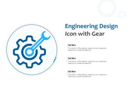 Engineering Design Icon With Gear