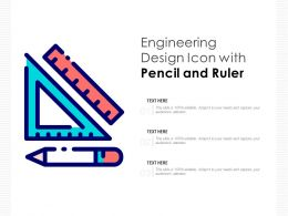Engineering Design Icon With Pencil And Ruler
