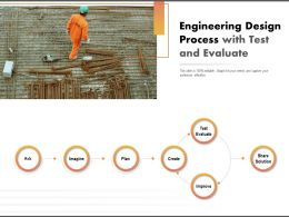 Engineering Design Process With Test And Evaluate