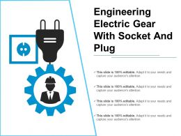Engineering Electric Gear With Socket And Plug