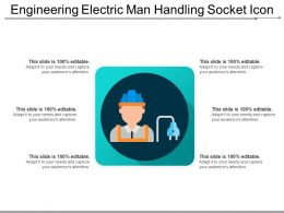 Engineering Electric Man Handling Socket Icon