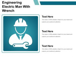 Engineering Electric Man With Wrench