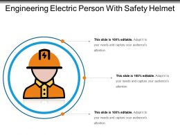 Engineering Electric Person With Safety Helmet