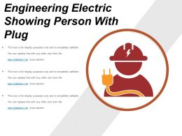 Engineering Electric Showing Person With Plug