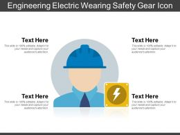 Engineering Electric Wearing Safety Gear Icon