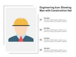 Engineering Icon Showing Man With Construction Hat