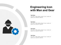 Engineering Icon With Man And Gear