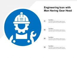 Engineering Icon With Man Having Gear Head