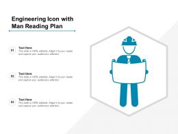 Engineering Icon With Man Reading Plan