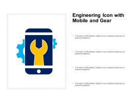 Engineering Icon With Mobile And Gear