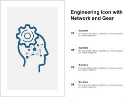 Engineering Icon With Network And Gear