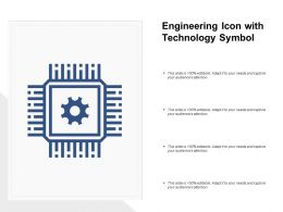 Engineering Icon With Technology Symbol