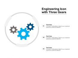 Engineering Icon With Three Gears