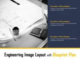 Engineering Image Layout With Blueprint Plan