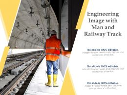 Engineering Image With Man And Railway Track