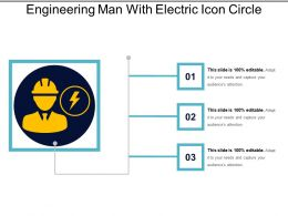 Engineering Man With Electric Icon Circle