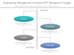 Engineering Management Functions Ppt Background Images