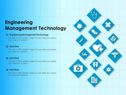 Engineering Management Technology Ppt Powerpoint Presentation Infographics Clipart