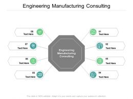 Engineering Manufacturing Consulting Ppt Powerpoint Presentation Infographics Cpb