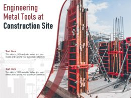 Engineering Metal Tools At Construction Site