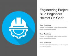Engineering Project Blue Engineers Helmet On Gear