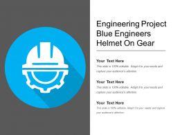 Engineering Project Blue Engineers Helmet On Gear