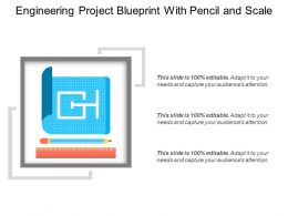Engineering Project Blueprint With Pencil And Scale