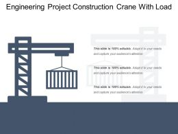 Engineering Project Construction Crane With Load
